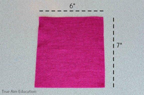 porta lenço em feltro