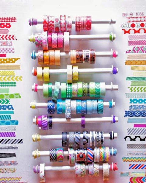 dica para organizar fitas de cetim e fitas adesivas