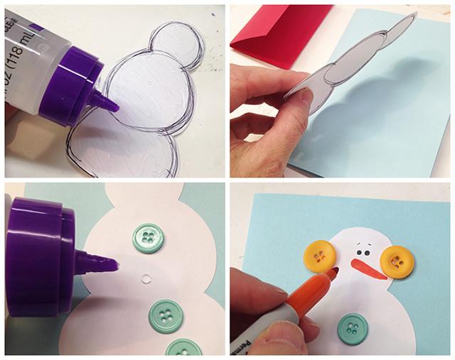 Como Fazer Cartao De Natal Com Botoes Revista Artesanato