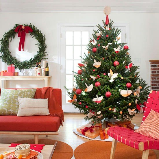 sala de estar - decoração de natal