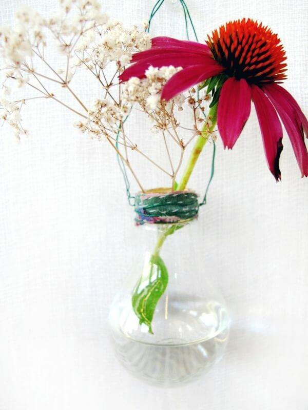 vasinho decorativo com lâmpada