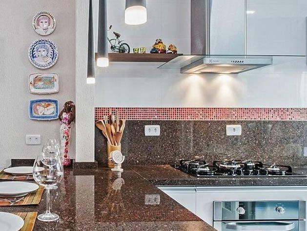 Cozinha com detalhes artesanais