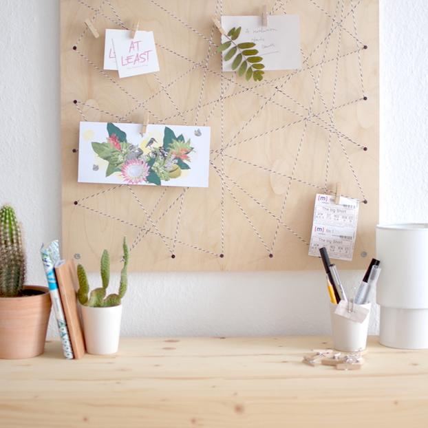 Como fazer um mural de recados com barbante revista artesanato - Pinnwand selber bauen ...