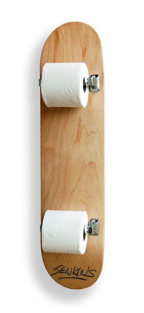 Porta-papel com shape de skate