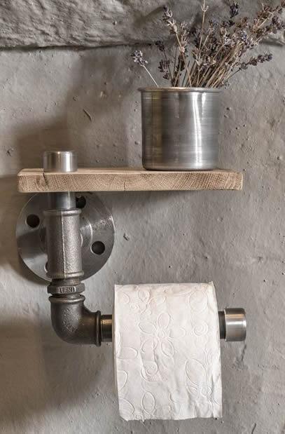 Porta-papel para banheiro