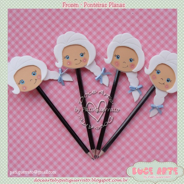Ponteira de lápis da Elsa