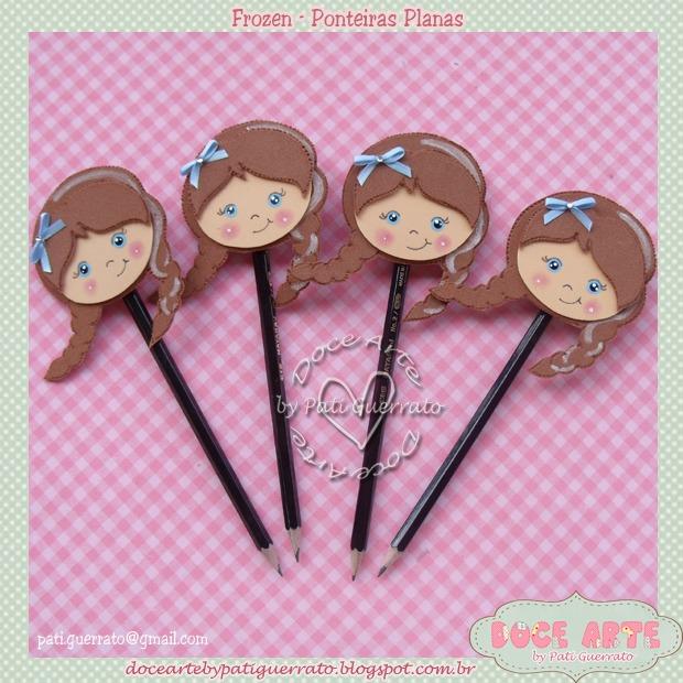 Ponteira de lápis da Ana (Frozen)