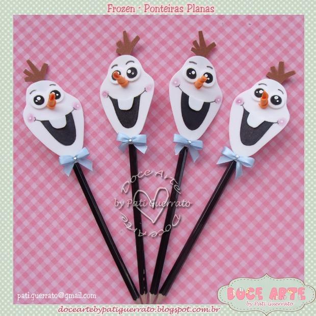 Ponteira de lápis do Olaf