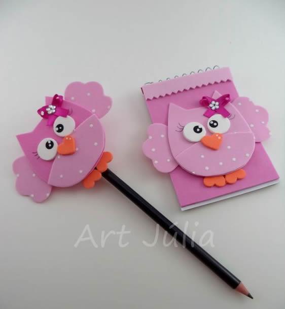ponteira de lápis coruja