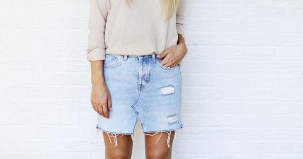 como fazer saia com calça jeans