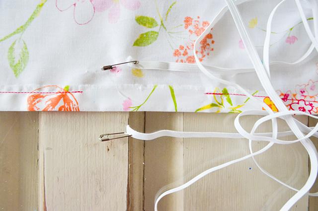 passo a passo de como fazer lençol de eslático