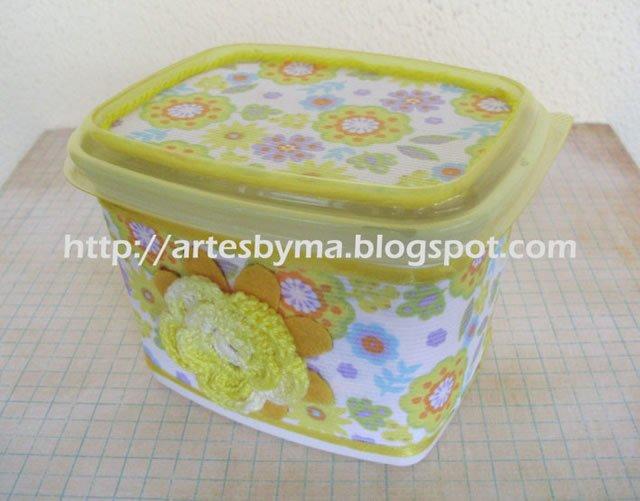 decorar pote de margarina