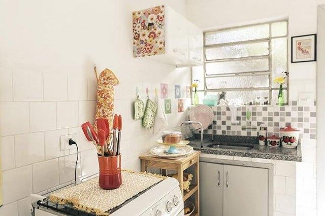 decoração cozinha com artesanato