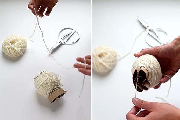 como fazer tapete de pompom