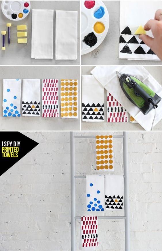 como criar estampas com tinta e carimbo