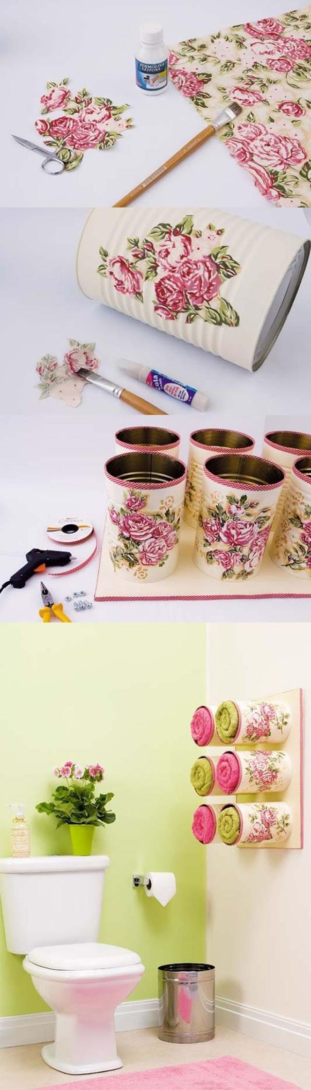 latas decoradas com apliques