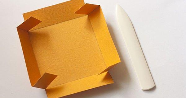 molde de caixa de papel para presente