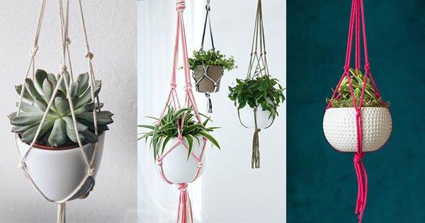 como fazer suporte para vaso de planta