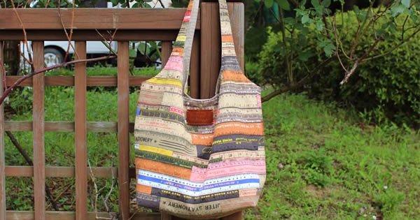 como fazer bolsa de tecido
