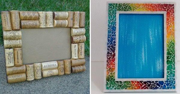 porta-retratos reciclados