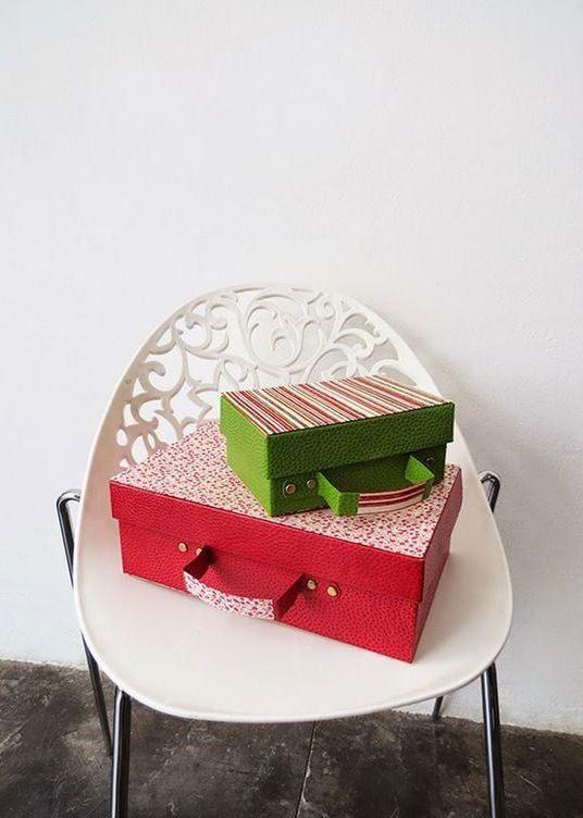 artesanato com caixa de sapato