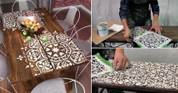 Como Pintar Móveis com Estêncil – 11 Ideias Lindas + Passo a Passo