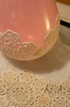 como fazer porta velas de renda balão