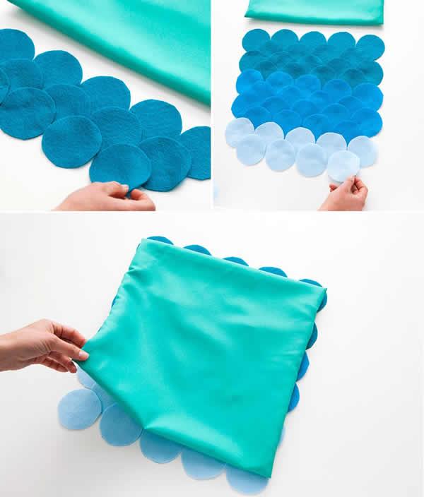 almofadas personalizadas com feltro