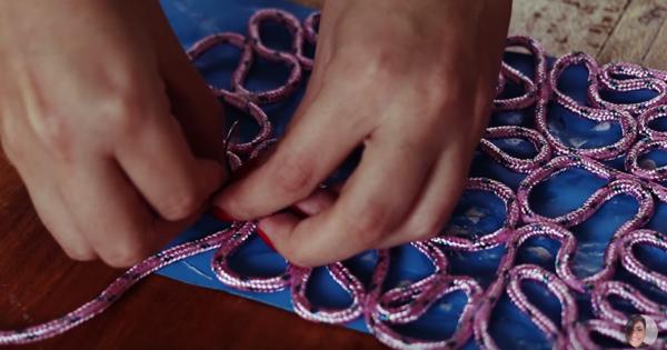 descanso de panela feito com corda