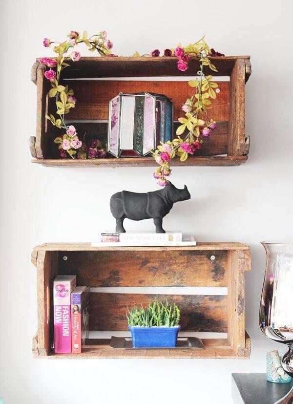 decoração com caixote