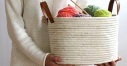 Artesanato com Corda – Aprenda a Fazer um Cesto Artesanal com Balde