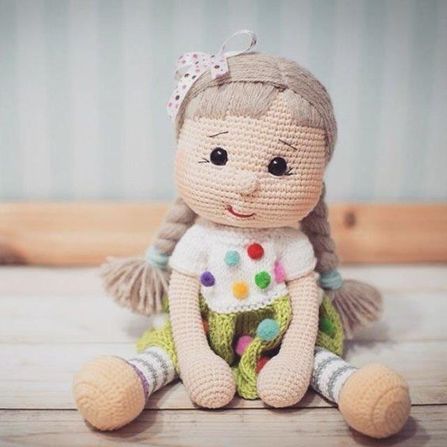 Amigurumi Boneca De Croche +bichinho - R$ 230,00 em Mercado Livre | 640x640