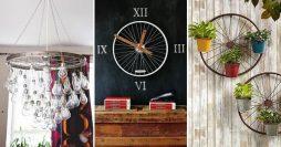 Artesanato com Reciclagem – 30 Ideias Para Usar Rodas de Bicicleta na Decoração