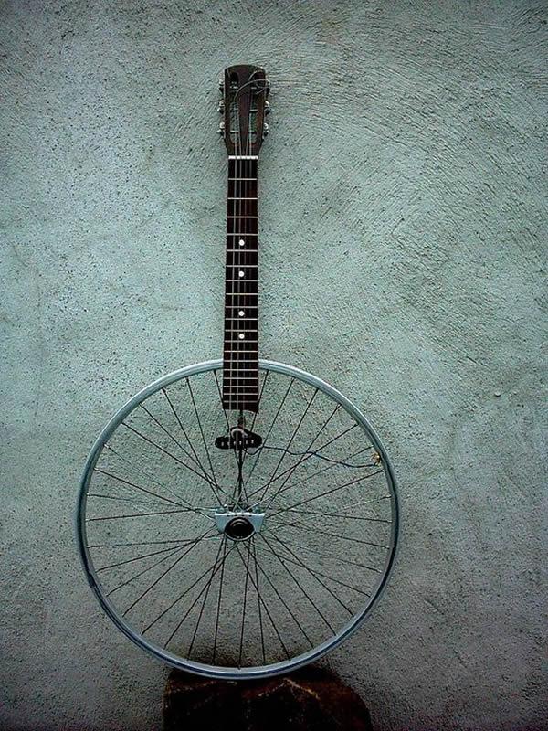 artesanato com reciclagem roda de bicicleta