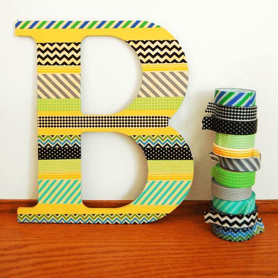 letras decorativas de papelão