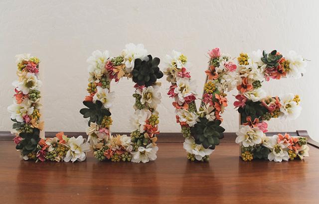 letras 3d decoração