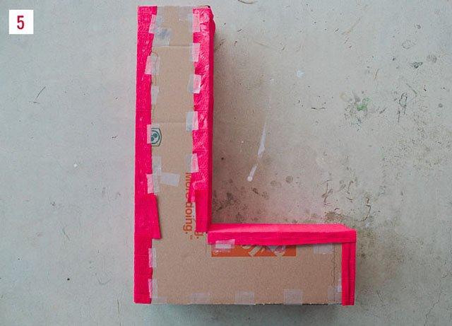 como fazer letras 3d com papelão