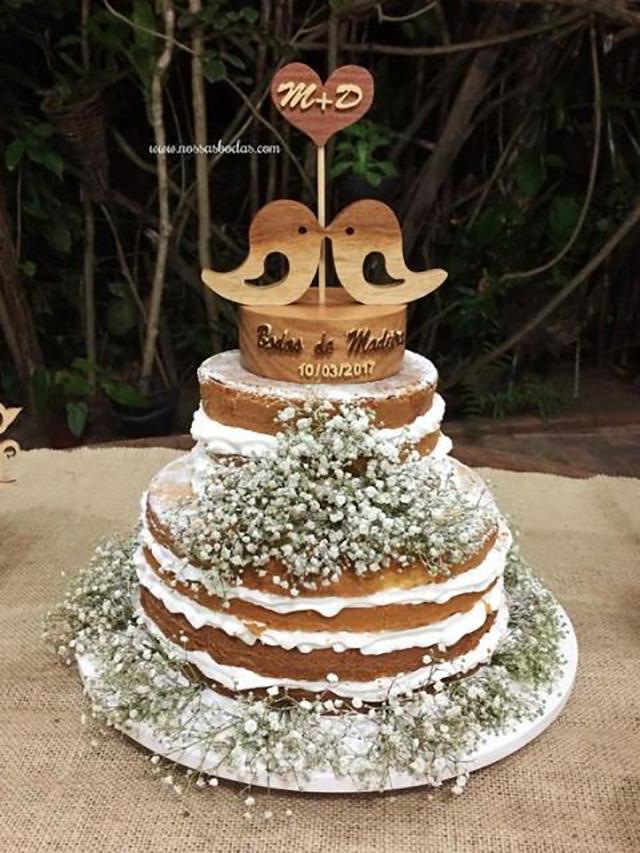 decoração bodas de madeira