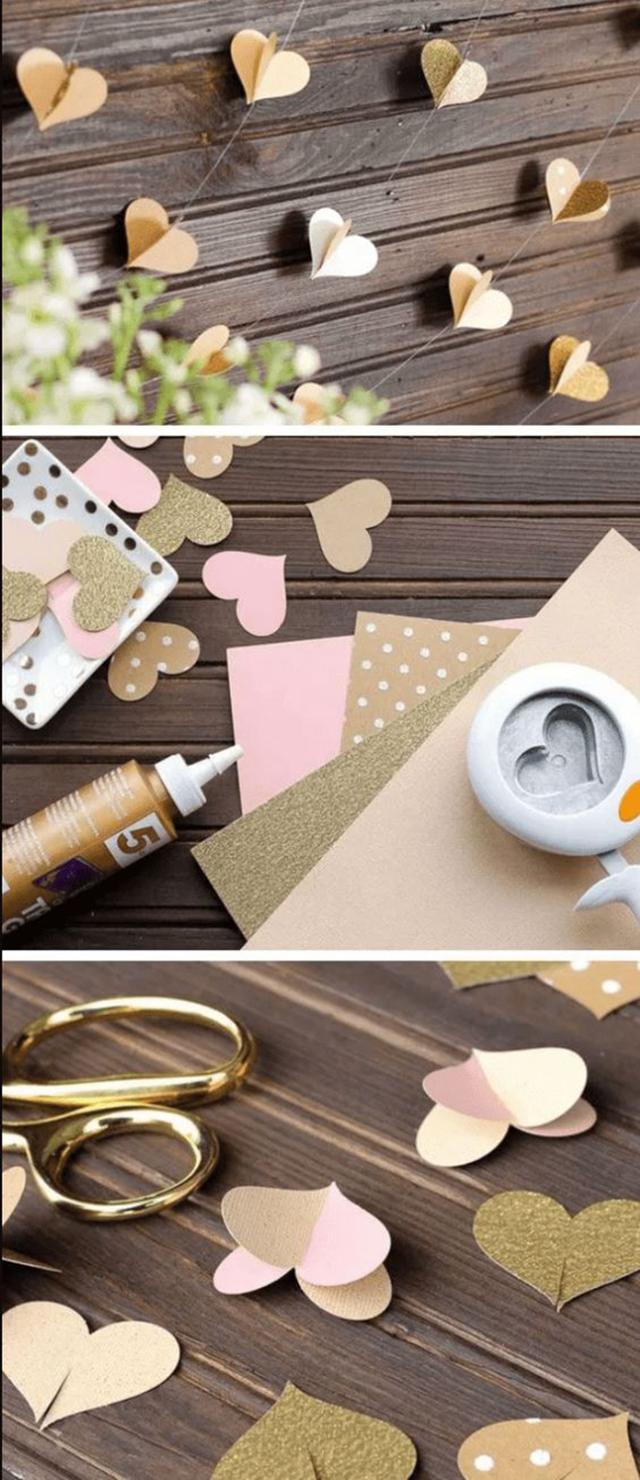 decoração para bodas de papel