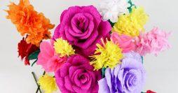 Como Fazer Flor de Papel – 2 Modelos Lindos com Passo a Passo