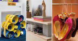 7 Modelos de Sapateiras Criativas e Recicláveis + Passo a Passo