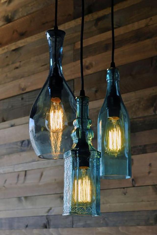 luminárias criativas garrafa
