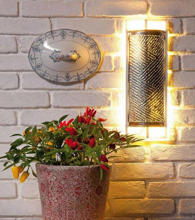 luminárias criativas com ralador de cozinha