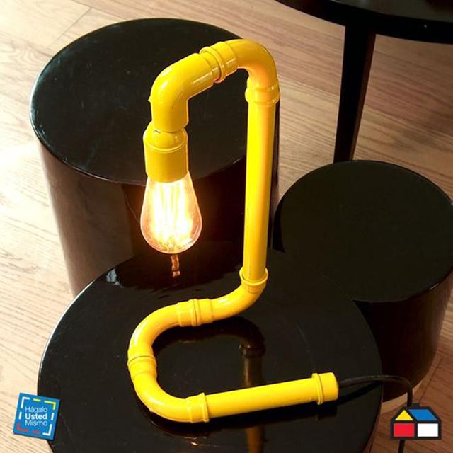luminárias criativas com cano pvc