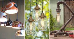 48 Luminárias Criativas e Artesanais Para Fazer Agora Mesmo