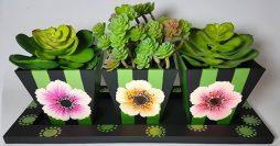 Artesanato em MDF – Aprenda como Pintar Lindos Vasos de Flores