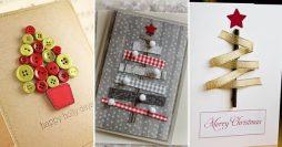 10 Ideias de Cartões de Natal Para Fazer em Casa