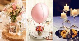 21 Ideias Incríveis de Enfeites de Mesa Para Casamento