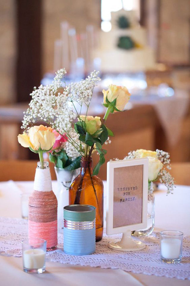 enfeite de mesa para casamento