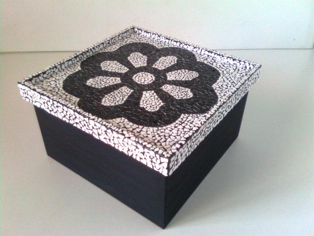 mosaico com casca de ovo